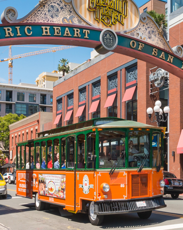 Old Town Trolley San Diego Gaslamp District